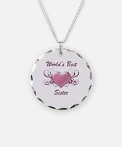 World's Best Sister (Heart) Necklace
