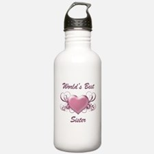 World's Best Sister (Heart) Water Bottle