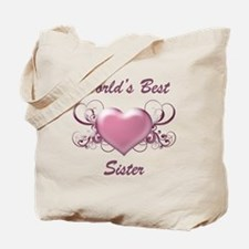 World's Best Sister (Heart) Tote Bag