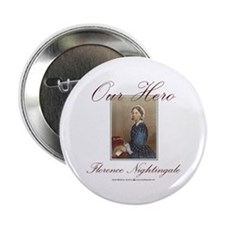 """Our Hero Florence Nightingale 2.25"""" Button (10 pac"""