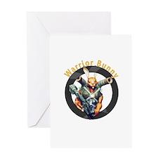 Warrior Bunny Nukem Greeting Cards