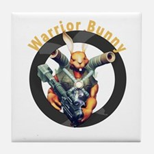 Warrior Bunny Nukem Tile Coaster