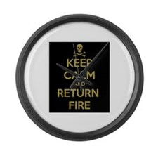 Keep Calm Large Wall Clock