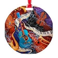 Supper Club Mashup Music Jazz Holiday Ornament