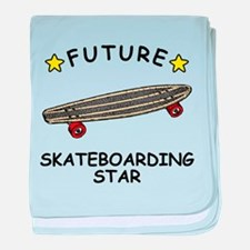 Future Skateboarding Star baby blanket