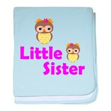 Little Sister Owl baby blanket