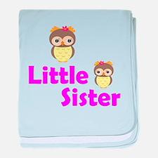 Little Sister Owl baby blanket