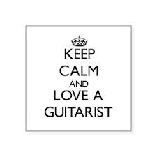 Keep Calm and Love a Guitarist Sticker