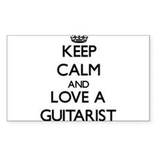 Keep Calm and Love a Guitarist Decal