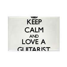 Keep Calm and Love a Guitarist Magnets