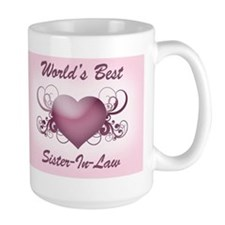 World's Best Sister-In-Law (Heart) Ceramic Mugs