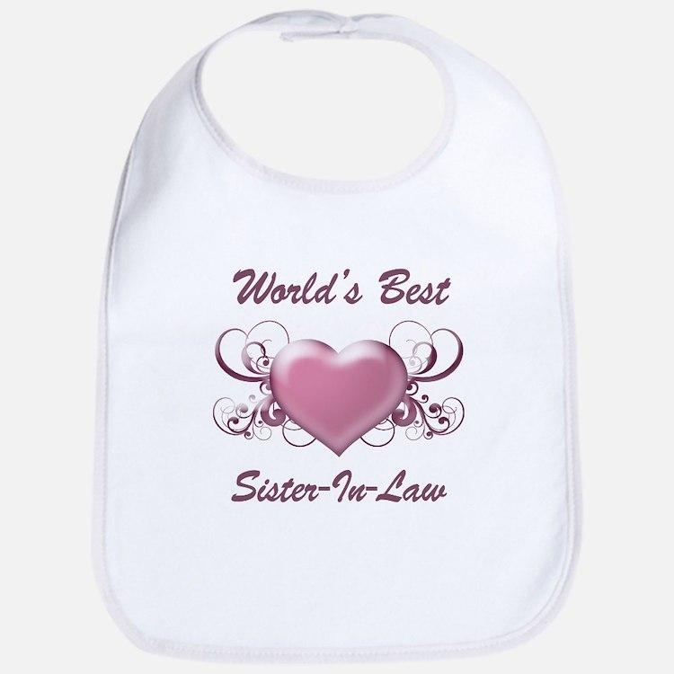 World's Best Sister-In-Law (Heart) Bib