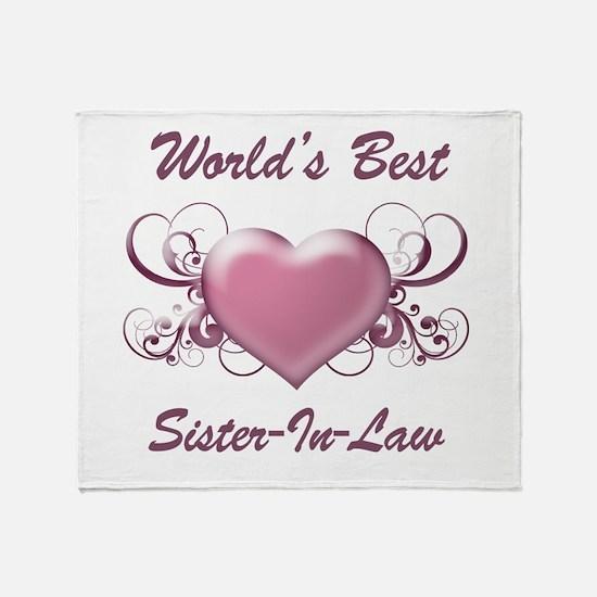 World's Best Sister-In-Law (Heart) Throw Blanket