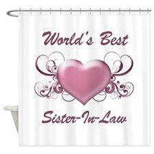 World's Best Sister-In-Law (Heart) Shower Curtain