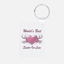World's Best Sister-In-Law (Heart) Keychains