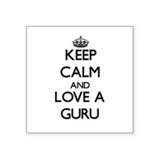 Keep Calm and Love a Guru Sticker