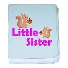 Little Sister Squirrel baby blanket