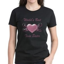 World's Best Twin Sister (Heart) Tee