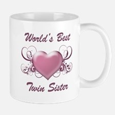World's Best Twin Sister (Heart) Mug