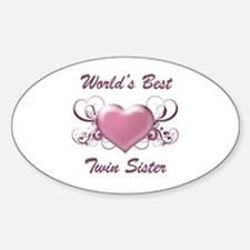 World's Best Twin Sister (Heart) Decal