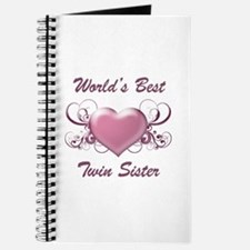 World's Best Twin Sister (Heart) Journal