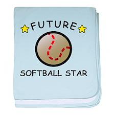 Future Softball Star baby blanket
