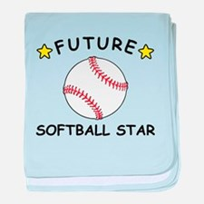 Future Softball Star baby blanket
