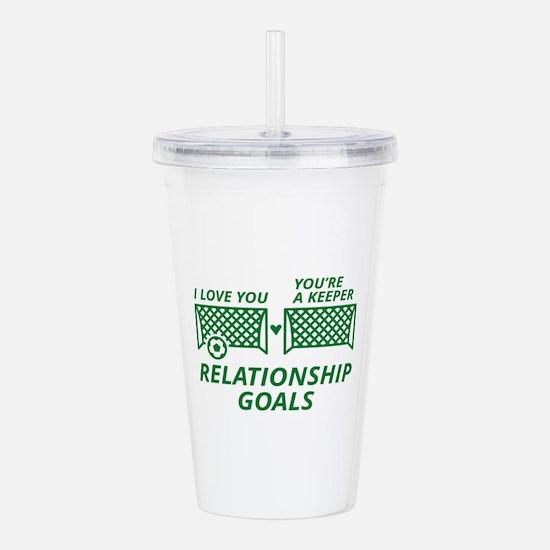 Relationship Goals Acrylic Double-wall Tumbler