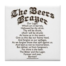 The Beers Prayer Tile Coaster