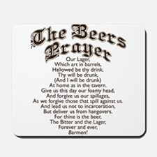 The Beers Prayer Mousepad