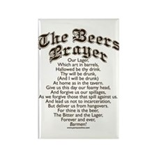 The Beers Prayer Rectangle Magnet