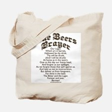 The Beers Prayer Tote Bag