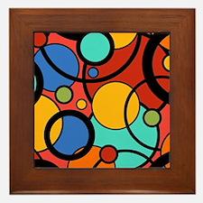 Pop Art Dots Framed Tile