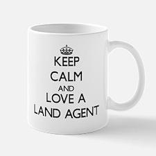 Keep Calm and Love a Land Agent Mugs