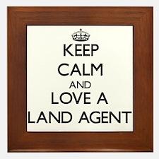 Keep Calm and Love a Land Agent Framed Tile