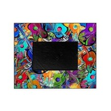 Colorful Painted Guitars Curvy Piano Picture Frame