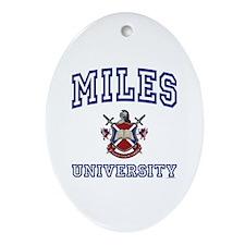 MILES University Oval Ornament