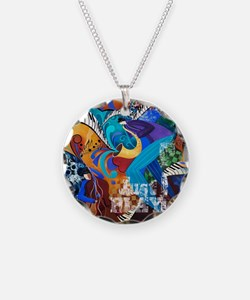 Just Play Saxophone Player J Necklace