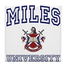 MILES University Tile Coaster