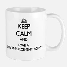 Keep Calm and Love a Law Enforcement Agent Mugs
