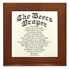 The Beers Prayer Framed Tile