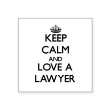 Keep Calm and Love a Lawyer Sticker