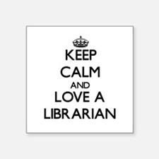 Keep Calm and Love a Librarian Sticker