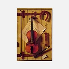 Still Life with Violin and Music  Rectangle Magnet