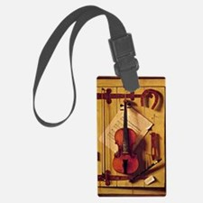 Still Life with Violin and Music Luggage Tag