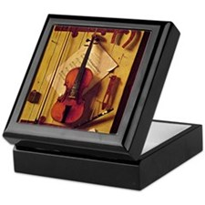 Still Life with Violin and Music - Wi Keepsake Box