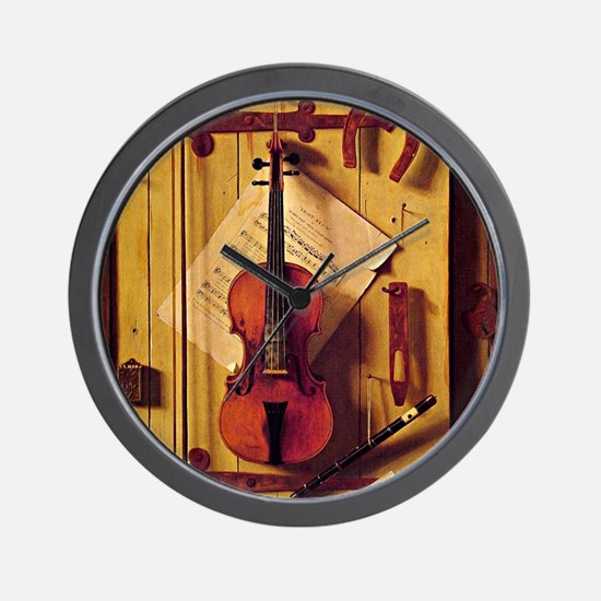 Still Life with Violin and Music - Will Wall Clock