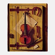 Still Life with Violin and Music - W Throw Blanket
