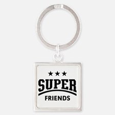 Super Friends Square Keychain