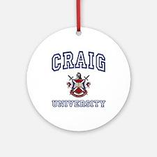 CRAIG University Ornament (Round)